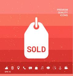 Sold tag symbol vector