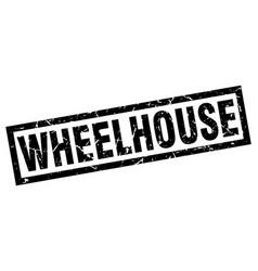Square grunge black wheelhouse stamp vector