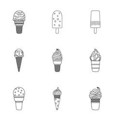 Summer sweets ice cream ice fruit milk ice vector