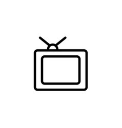 thin line old tv icon vector image vector image