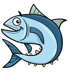 Tuna fish cartoon character vector