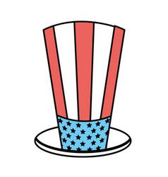 Usa hat to patritism celebration design vector