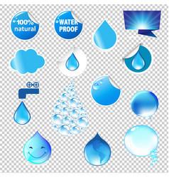 Water symbols set vector