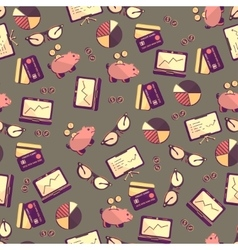 Seamless pattern with finance accounting and vector image