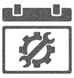 Service day grainy texture icon vector