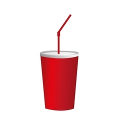 Red soda cup icon image vector