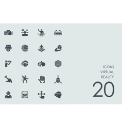 Set of virtual reality icons vector