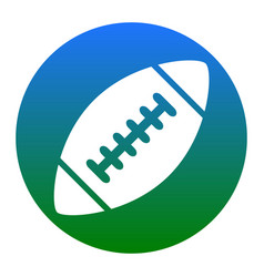 American simple football ball  white icon vector
