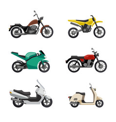 Motorcycles and scooters vector