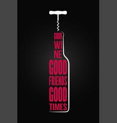 Wine bottle logo design background vector