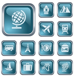 Travel buttons vector