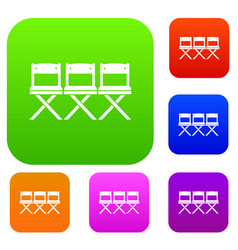 chairs set collection vector image