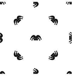 Clown hat pattern seamless black vector