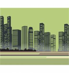 Urban buildings vector