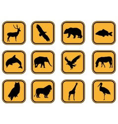 Animal icons set vector