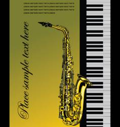 Piano with saxophone vector