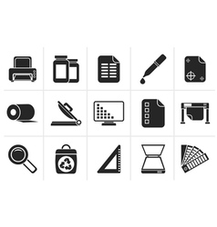 Silhouette commercial print icons vector