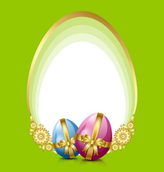 Easter eggs decoration vector