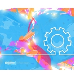 Creative gear wheel art vector