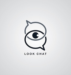 Look chat logotype vector