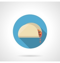 Tacos lunch flat color design icon vector