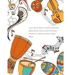 Latino card vector image