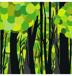 Abstract green forest vector image vector image