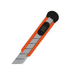 Blade cutter office supplies related icon image vector