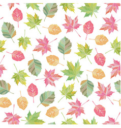 bright fall leaves seamless pattern vector image vector image