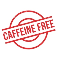 Caffeine Free rubber stamp vector image vector image
