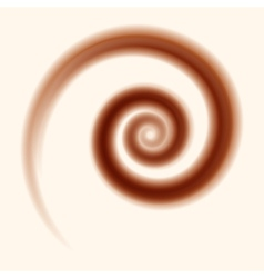 chocolate and milk swirl background vector image