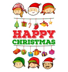 Christmas card with christmas ornaments vector