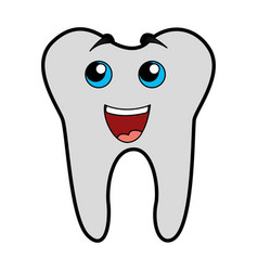 cute tooth cartoon vector image