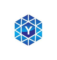 diamond initial y vector image