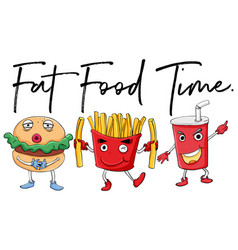 Different types of fast food vector