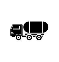 fuel truck icon black sign vector image