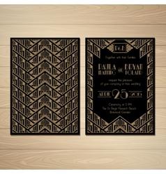 Gatsby wedding invitations vector