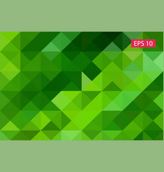 green abstract geometric background from vector image vector image