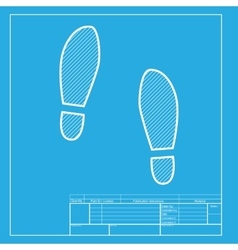 Imprint soles shoes sign white section of icon on vector