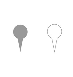 location indicator or pin grey set icon vector image