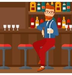 Man sitting at bar vector