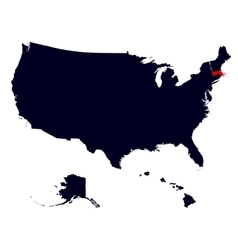 Massachusetts state in the united states map vector