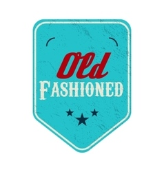 Old fashioned blue pennant label vintage style vector