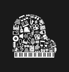 Piano art vector image
