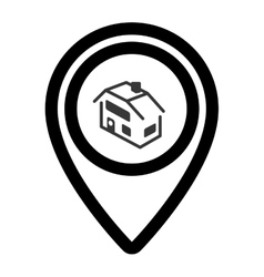Pin real estate isolated icon vector
