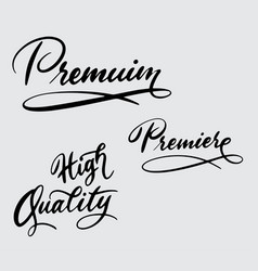 premium and high quality handwriting calligraphy vector image vector image