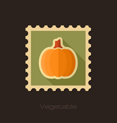 Pumpkin flat stamp vegetable vector