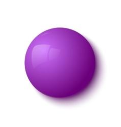 Purple glossy button vector image
