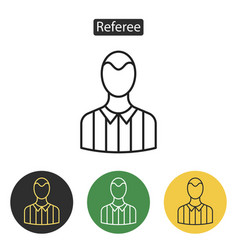 referee avatar multicoloured icons vector image vector image
