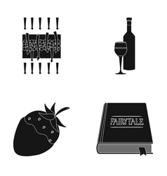 Science cooking and or web icon in black style vector